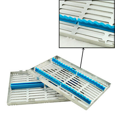 Dental Sterilization Cassette Rack Tray Box for 20 Surgical Instruments Dentist
