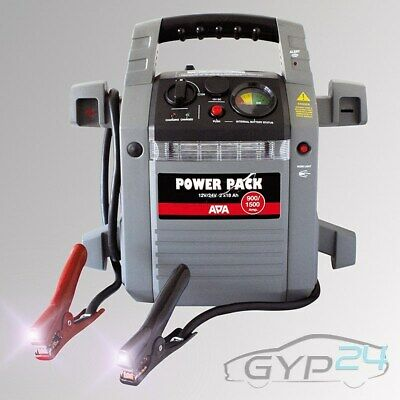 Apa Power Pack 12/24 V Mobile Starthilfe Generator Kompressor 900/1500A 31181744