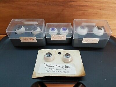 Glastic Eyes varying sizes - replacement Dolls Eyes vintage/retro