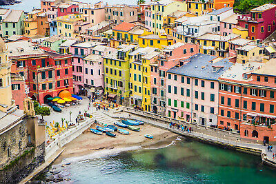 Digital Photo Wallpaper Picture Screensaver Cinque Terre Italy Europe Buildings