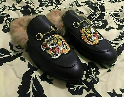 c66b1ea82 Black mens Gucci princetown loafer flats slippers slip-on size 43 US 9