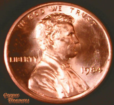 1984 Philadelphia Die Clash Lincoln Memorial Cent BU Fresh From OBW Roll