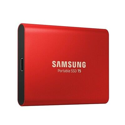 Samsung 500GB T5 Portable External SSD USB3.1 (Gen2) Type-C Shock Resistant Red