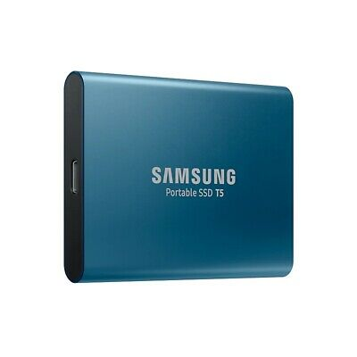 Samsung 250GB T5 Portable External SSD USB3.1 (Gen2) Type-C Shock Resistant Blue