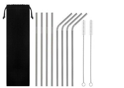 "10.5"" Stainless Steel Metal Drinking Straws For Yeti RTIC Tumbler 20 or 30 oz US"