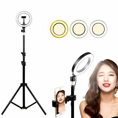 """6"""" Mini  Led Selfie Ring Light with Stand,with Cell Phone Holder & 3 Light Mode"""