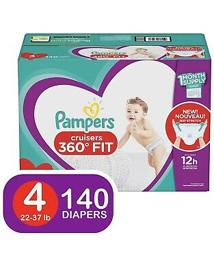 22-37lbs. Pampers Cruisers Disposable Diapers Size 4 *Free 2 day ship