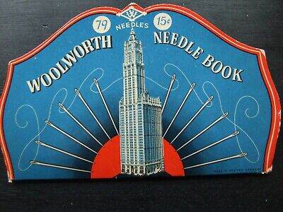 "Vintage Needle Case Advertising Collectable ""Woolworth"""