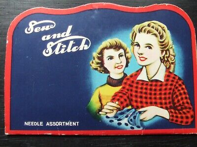 "Vintage Needle Case Collectable ""Sew and Stitch small version 2"""
