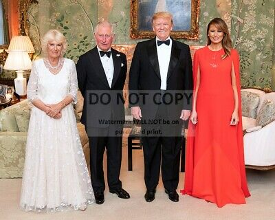 Donald Trump, Melania, Prince Charles And Duchess In 2019 - 8X10 Photo (Sp072)