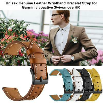 Leather Watch Milanese Band Strap For Garmin Vivoactive 3/Vivomove HR 20mm