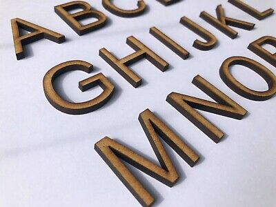 Wooden Letters 35mm Alphabet Wall Decor MDF Signs Ideal for Arts and Crafts,