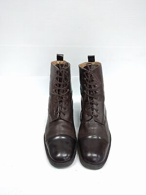 Size 39 Vintage Ladies Brown two toned Marc O'Polo lace up Leather ankle boots