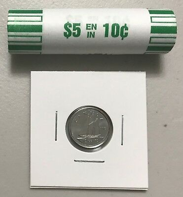 CANADA 2018 New 10 cents DIME ORIGINAL BLUE NOSE (UNC Directly from mint roll)