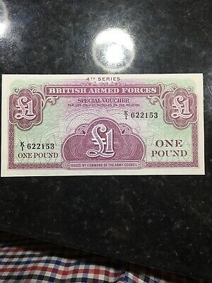 A British Armed Forces 4th Series 1 Pound Banknote  UNC -  Very crisp