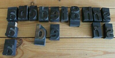 x 16 Vintage Wooden Printing Blocks  Letters and Typefaces