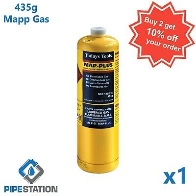 Sale! Yellow MAPP / MAP+ Pro Gas Cylinder 453g  Bottle FREE DELIVERY