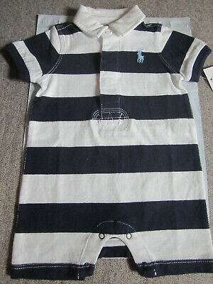 8f2b5ae0 NWT Ralph Lauren Infant Baby Boy One Piece Romper/Shortall Size 3 Months.  NEW