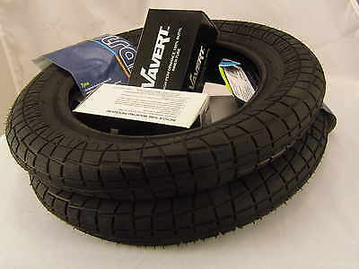 2 Pram Tyres & Bent Valve Tubes 12 1/2 X 2 1/4 (57-203) Most Common Pram Size