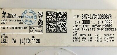 SN74LVC1G08DCKR TI IC GATE AND 1CH 2-INP SC70-5 100 PIECES
