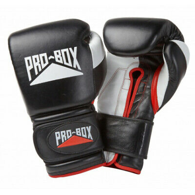 Pro-Box 'Pro Spar' Leather Training Gloves - Black