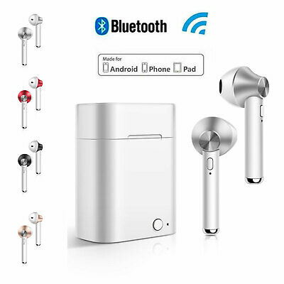 Wireless Bluetooth Headphones Earpods Apple iPhone Android with Stereo Handfree