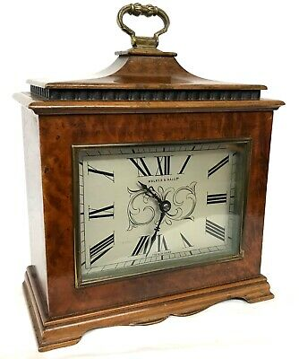 Stunning Antique Walker & Hall Ltd Burr Walnut Mantel / Bracket Clock
