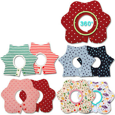 Infant Baby Flowers Bibs Soft 360 Degree Rotating 4 Layers Bibs Saliva Towel