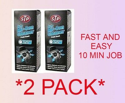 2 x STP Car Air Con Bomb Cleaner Conditioning Purifier Freshener STP *TWIN PACK*