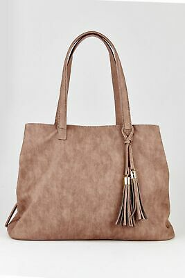New Marikai 3 Compartment Soft Tote Bag Womens Tote Bags & Shoppers Grey,Tan