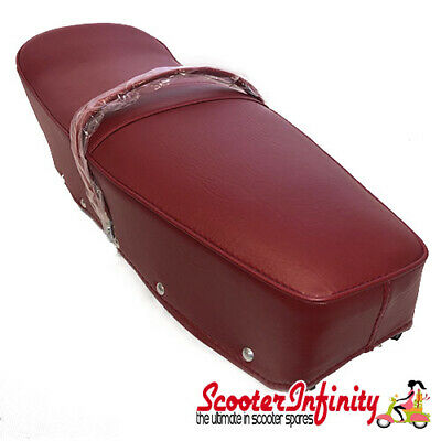 Seat PREMIUM (red, with belt) (Lambretta TV, LI, SX, TV - Series 3)