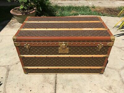 LOUIS VUITTON MALLE 90 trunk Monogram Steamer Trunk chest purse bag LV