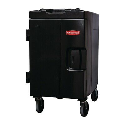 Rubbermaid Catermax 100 Insulated Food Storage Unit Black with Wheels [L592]