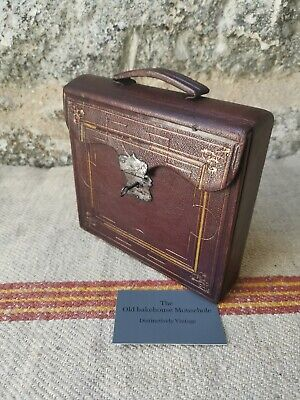 A !19th Century Leather Traveling Writing Box