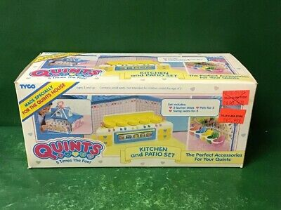 """1990 Quints """"Kitchen And Patio Set Nib By Tyco"""