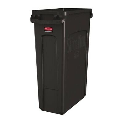 Rubbermaid Slim Jim Container With Venting Channels Brown 87Ltr [DY110]