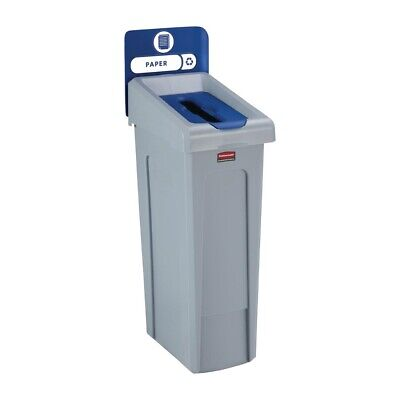 Rubbermaid Slim Jim Paper Recycling Station Blue 87Ltr [DY087]