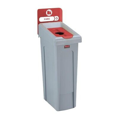 Rubbermaid Slim Jim Cans Recycling Station Red 87Ltr [DY088]