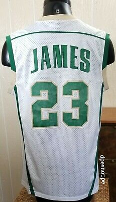 6622d4afefe Lebron James #23 Irish St Vincent Mary High School Nike White Adult Jersey  L.