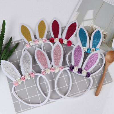 1Pc new baby girls rabbit ear wear toddler newborn hairband hair bow accessoODUS