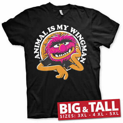 Licensed The Muppets - Animal Is My Wingman Big&Tall 3XL, 4XL, 5XL T-Shirt