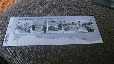GB 2019 D-DAY 75th ANNIV NORMANDY LANDINGS 6 JUNE1944 MINI SHEET WITH BARCODE