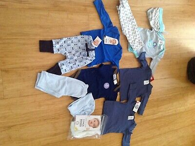 Bulk baby boy newborn clothes 0000 new with tags 10 items bonds toys R us