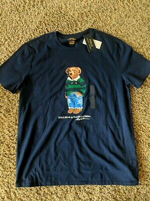 cf5fd750 Ralph Lauren POLO Bear jeans/ polo Limited Edition 2019 Men's tee shirt L  New