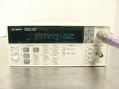 HP Agilent 53181A 10 Digit RF Frequency Counter 225mhz - 12.4Ghz + 010 HS Oven