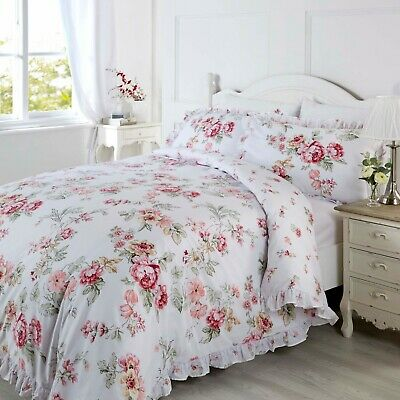 Ashleigh Embroidered Floral Frills Luxury Duvet Cover Bedding Set, By Rapport