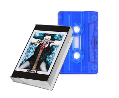 MADONNA - MADAME X Deluxe UK EXCLUSIVE Transparent BLUE Cassette Tape Official