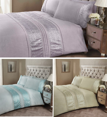 Embellished Aurora Ruffle Luxury Duvet Cover Set, by Rapport (three colours)