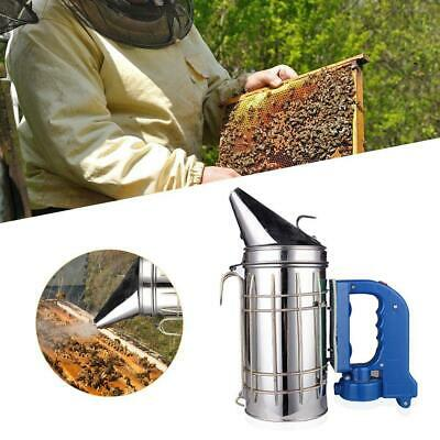 Large Stainless Steel Electric Bee Hive Smoker Fumes Machine Beekeeping Deco
