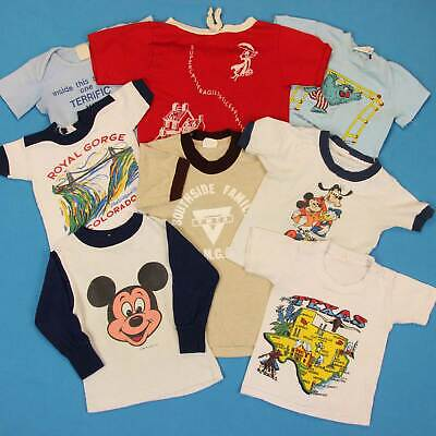 60s VINTAGE T SHIRT Lot ~ Mixed Sizes │ Mickey Mouse Tourist Scenic Disney Tee